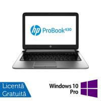 Laptop Refurbished HP ProBook 430 G1, Intel Celeron Dual Core 2955U 1.4GHz , 4GB DDR3, 320GB SATA + Windows 10 Pro