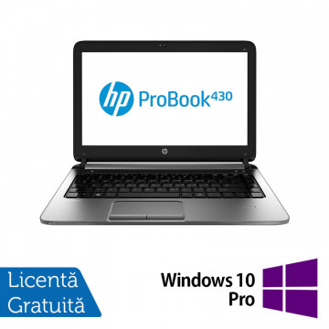 Laptop Refurbished HP ProBook 430 G1, Intel Celeron Dual Core 2955U 1.4GHz , 4GB DDR3, 320GB SATA + Windows 10 Pro Laptopuri Refurbished