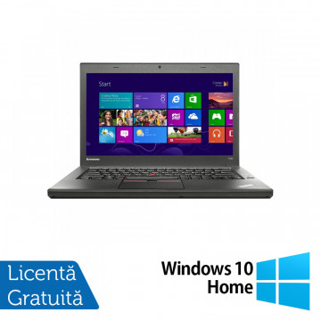 Laptop LENOVO ThinkPad T450, Intel Core i5-5300U 2.30GHz, 4GB DDR3, 500GB SATA, 14 Inch + Windows 10 Home, Refurbished Laptopuri Refurbished