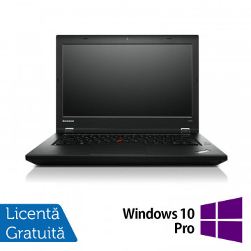 Laptop LENOVO ThinkPad L440, Intel Core i5-4300M 2.6GHz, 8GB DDR3, 320GB SATA, 14 Inch + Windows 10 Pro, Refurbished Laptopuri Refurbished
