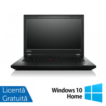 Laptop LENOVO ThinkPad L450, Intel Core i5-4300U 1.90GHz, 4GB DDR3, 120GB SSD, 14 Inch, Webcam + Windows 10 Home, Refurbished Laptopuri Refurbished