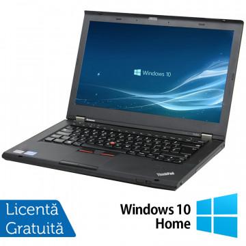 Laptop LENOVO ThinkPad T430, Intel Core i5-3210M 2.50GHz, 4GB DDR3, 120GB SSD, DVD-RW, 14 Inch, Webcam + Windows 10 Home, Refurbished Laptopuri Refurbished