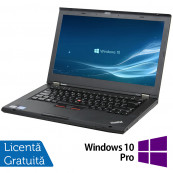 Laptop LENOVO ThinkPad T430, Intel Core i5-3320M 2.60GHz, 4GB DDR3, 120GB SSD, DVD-RW, 14 Inch, Fara Webcam + Windows 10 Pro, Refurbished Laptopuri Refurbished