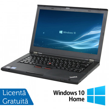 Laptop LENOVO ThinkPad T430, Intel Core i5-3320M 2.60GHz, 4GB DDR3, 120GB SSD, DVD-RW, 14 Inch, Webcam + Windows 10 Home, Refurbished Laptopuri Refurbished