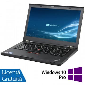 Laptop Lenovo ThinkPad T430s, Intel Core i5-3210M 2.50GHz, 4GB DDR3, 120GB SSD, DVD-RW, 14 Inch, Webcam + Windows 10 Pro, Refurbished Laptopuri Refurbished