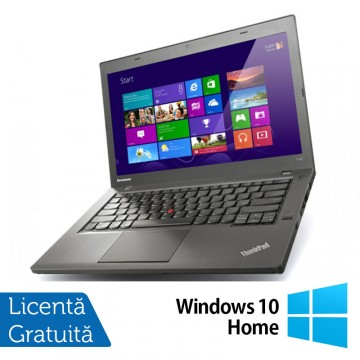 Laptop LENOVO ThinkPad T440P, Intel Core i5-4300M 2.60GHz, 4GB DDR3, 500GB SATA, DVD-RW, 14 Inch, Fara Webcam + Windows 10 Home, Refurbished Laptopuri Refurbished