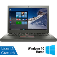 Laptop Lenovo Thinkpad X250, Intel Core i5-5300U 2.30GHz, 8GB DDR3, 240GB SSD, 12.5 Inch, Webcam + Windows 10 Home