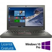 Laptop Lenovo Thinkpad X250, Intel Core i5-5300U 2.30GHz, 8GB DDR3, 240GB SSD, 12.5 Inch + Windows 10 Pro, Refurbished Laptopuri Refurbished