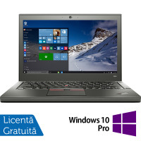 Laptop Lenovo Thinkpad X250, Intel Core i5-5300U 2.30GHz, 8GB DDR3, 500GB SATA, 12.5 Inch + Windows 10 Pro