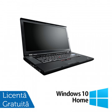 Laptop Lenovo ThinkPad W520, Intel Core i7-2860QM 2.50GHz, 8GB DDR3, 320GB SATA, Nvidia Quadro 1000 2GB, Webcam, 15.6 Inch + Windows 10 Home, Refurbished Laptopuri Refurbished