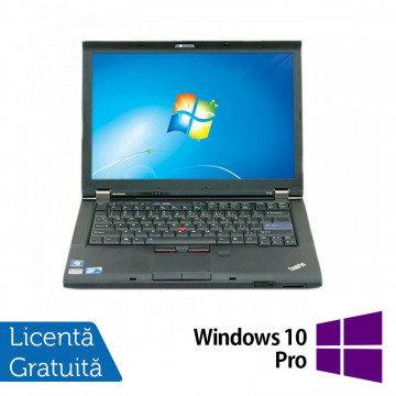 Laptop LENOVO T410, Intel Core i5-520M 2.40GHz, 4GB DDR3, 320GB SATA, DVD-RW, 14.1 Inch + Windows 10 Pro, Refurbished Laptopuri Refurbished