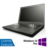 Laptop Lenovo Thinkpad x240, Intel Core i5-4300U 1.90GHz, 8GB DDR3, 120GB SSD, 12 Inch, Touchscreen, Rezolutie FullHD + Windows 10 Pro