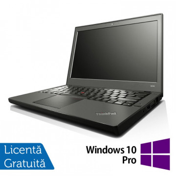 Laptop Refurbished Lenovo Thinkpad x240, Intel Core i5-4300U 1.90GHz, 8GB DDR3, 120GB SSD, 12 Inch + Windows 10 Pro Laptopuri Refurbished