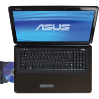 Laptop ASUS K70IO, Intel Pentium T4200 2.00GHz, 4GB DDR2, 500GB SATA, NVIDIA GeForce GT 120M 1GB VRAM, DVD-RW, 17.3 Inch HD+, Tastatura Numerica, Webcam