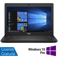 Laptop DELL Latitude 5280, Intel Core i5-7200U 2.50GHz, 8GB DDR4, 120GB SSD M.2, 12.5 Inch, Webcam + Windows 10 Pro