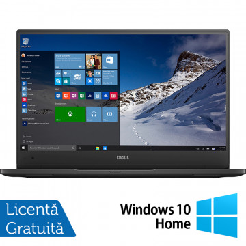 Laptop DELL Latitude 7370, Intel Core M5-6Y57 1.10-2.80GHz, 8GB DDR3, 240GB SSD, 13.3 Inch Full HD, Webcam + Windows 10 Home, Refurbished Laptopuri Refurbished