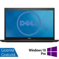 Laptop DELL Latitude 7480, Intel Core i5-7300U 2.60GHz, 8GB DDR4, 240GB SSD M.2, 14 Inch Full HD LED, Webcam + Windows 10 Pro