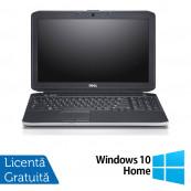Laptop DELL Latitude E5530, Intel Core i3-3110M 2.40GHz, 4GB DDR3, 320GB SATA, DVD-RW, Webcam, 15.6 Inch + Windows 10 Home, Refurbished Laptopuri Refurbished