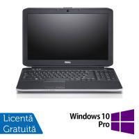 Laptop DELL Latitude E5530, Intel Core i3-3110M 2.40GHz, 4GB DDR3, 320GB SATA, DVD-RW, Webcam, 15.6 Inch + Windows 10 Home