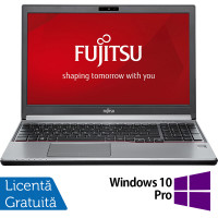 Laptop FUJITSU SIEMENS Lifebook E756, Intel Core i5-6200U 2.30GHz, 8GB DDR4, 240GB SSD, DVD-RW, 15.6 Inch Full HD, Webcam, Tastatura Numerica + Windows 10 Pro