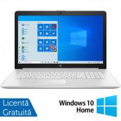 Laptop Nou HP 15-DW1024, Intel Core Gen 10 i3-10110U 2.10GHz, 4GB DDR4, 128GB SSD, 15.6 Inch, Bluetooth, Webcam, Natural Silver + Windows 10 Home Laptopuri Noi