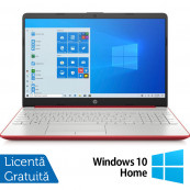 Laptop Nou HP 15-DW1083, Intel Pentium Gold Gen 10 6405U 2.40GHz, 4GB DDR4, 128GB SSD, 15.6 Inch, Webcam, Scarlet Red + Windows 10 Home Laptopuri Noi