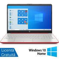 Laptop Nou HP 15-DW1083, Intel Pentium Gold Gen 10 6405U 2.40GHz, 4GB DDR4, 128GB SSD, 15.6 Inch, Webcam, Scarlet Red + Windows 10 Home