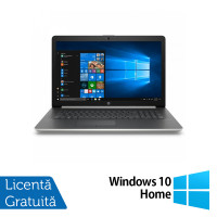 Laptop HP 17-BY0062ST, Intel Core i5-8250U 1.60GHz, 8GB DDR4, 1TB SATA, Intel UHD Graphics 620, Card Reader, DVD-Writer, 17.6 Inch HD+ BrightView Display, Webcam HD + Windows 10 Home