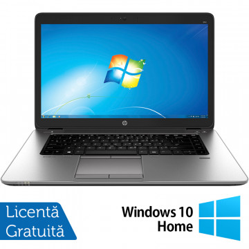 Laptop HP EliteBook 850 G1, Intel Core i5-4300U 1.90GHz, 4GB DDR3, 500GB SATA, 15.6 Inch, Webcam + Windows 10 Home, Refurbished Laptopuri Refurbished