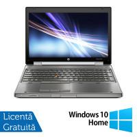 Laptop Hp EliteBook 8560w, Intel Core i7-2630QM 2.00GHz, 8GB DDR3, 500GB SATA, Full HD, NVIDIA Quadro Q1000M, DVD-RW, Webcam, 15.6 Inch + Windows 10 Home