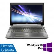 Laptop Hp EliteBook 8560w, Intel Core i7-2630QM 2.00GHz, 8GB DDR3, 500GB SATA, Full HD, NVIDIA Quadro Q1000M, DVD-RW, Webcam, 15.6 Inch + Windows 10 Pro, Refurbished Laptopuri Refurbished