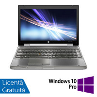Laptop Hp EliteBook 8560w, Intel Core i7-2630QM 2.00GHz, 8GB DDR3, 500GB SATA, Full HD, NVIDIA Quadro Q1000M, DVD-RW, Webcam, 15.6 Inch + Windows 10 Pro