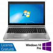 Laptop HP EliteBook 8570p, Intel Core i7-3520M 2.90GHz, 8GB DDR3, 240GB SSD, DVD-RW, 15.6 Inch, Webcam, Tastatura Numerica + Windows 10 Pro, Refurbished Laptopuri Refurbished
