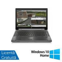 Laptop HP EliteBook 8570w, Intel Core i5-3360M 2.80GHz, 8GB DDR3, 240GB SSD, DVD-RW, 15.6 Inch + Windows 10 Home