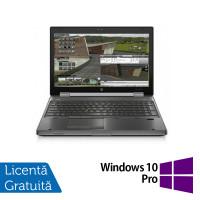 Laptop HP EliteBook 8570w, Intel Core i5-3360M 2.80GHz, 8GB DDR3, 240GB SSD, DVD-RW, 15.6 Inch + Windows 10 Pro