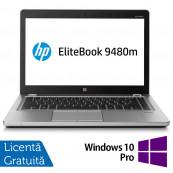 Laptop HP EliteBook Folio 9480m, Intel Core i7-4600U 2.60GHz, 8GB DDR3, 240GB SSD, 14 Inch, Webcam + Windows 10 Pro, Refurbished Laptopuri Refurbished