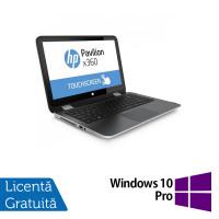 Laptop HP Pavilion x360, Intel Core i3-4030U 1.90GHz, 4GB DDR3, 500GB SATA, TouchScreen, Webcam, 13.3 Inch + Windows 10 Pro