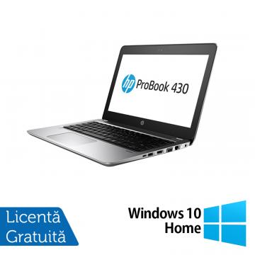 Laptop HP ProBook 430 G4, Intel Core i5-7200U 2.50GHz, 4GB DDR4, 120GB SSD M.2, 13.3 Inch, Webcam + Windows 10 Home, Refurbished Laptopuri Refurbished