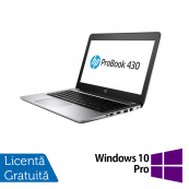 Laptop HP ProBook 430 G4, Intel Core i5-7200U 2.50GHz, 4GB DDR4, 120GB SSD M.2, 13.3 Inch, Webcam + Windows 10 Pro, Refurbished Laptopuri Refurbished