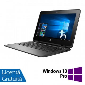 Laptop HP ProBook x360 11 G1, Intel Celeron N3350 1.10GHz, 4GB DDR3, 120GB SSD, TouchScreen, Webcam, 11 Inch + Windows 10 Pro, Refurbished Laptopuri Refurbished