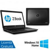 Laptop Hp Zbook 15, Intel Core i7-4800MQ 2.70GHz, 8GB DDR3, 256GB SSD, DVD-RW + Windows 10 Home, Refurbished Laptopuri Refurbished