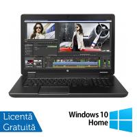 Laptop Hp Zbook 17 G2, Intel Core i7-4910MQ 2.90GHz, 32GB DDR3, 256GB SSD, DVD-RW, Display LED, 17 Inch + Windows 10 Home