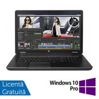 Laptop Hp Zbook 17 G2, Intel Core i7-4910MQ 2.90GHz, 32GB DDR3, 256GB SSD, DVD-RW, Display LED, 17 Inch + Windows 10 Pro