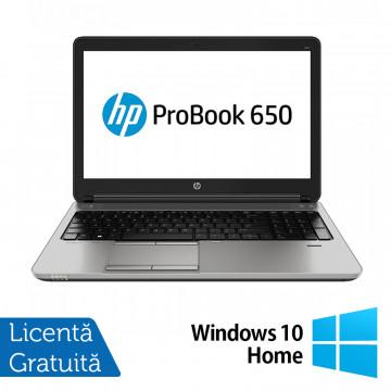 Laptop HP ProBook 650 G1, Intel Core i5-4200M 2.50GHz, 4GB DDR3, 500GB SATA, DVD-RW, 15.6 Inch, Tastatura Numerica, Webcam + Windows 10 Home, Refurbished Laptopuri Refurbished