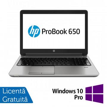 Laptop HP ProBook 650 G1, Intel Core i5-4200M 2.50GHz, 4GB DDR3, 500GB SATA, DVD-RW, 15.6 Inch, Tastatura Numerica, Webcam + Windows 10 Pro, Refurbished Laptopuri Refurbished