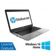 Laptop HP ProBook 840 G1, Intel Core i5-4300U 1.90GHz , 8GB DDR3, 120GB SSD, 14 Inch, Webcam + Windows 10 Home, Refurbished Laptopuri Refurbished