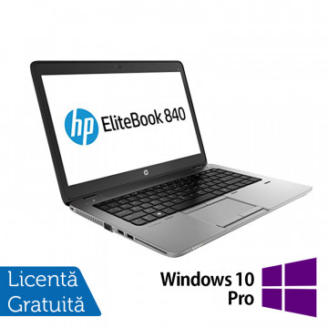 Laptop HP ProBook 840 G1, Intel Core i5-4300U 1.90GHz , 8GB DDR3, 120GB SSD, 14 Inch, Webcam + Windows 10 Pro Laptopuri Refurbished