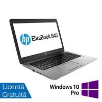 Laptop HP ProBook 840 G1, Intel Core i5-4300U 1.90GHz, 8GB DDR3, 240GB SSD, 14 Inch TouchScreen, Webcam + Windows 10 Pro