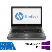 Laptop Refurbished HP EliteBook 8470p, Intel Core i5-3210M 2.50 GHz, 8GB DDR 3, 120GB SSD, DVD-ROM, 14 inch LED backlight + Windows 10 Pro Laptopuri Refurbished