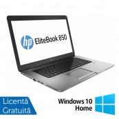 Laptop Refurbished HP EliteBook 850 G1, Intel Core i5-4200U 1.60GHz , 8GB DDR3, 320GB SATA, Webcam, LED backlight, 15.6 inch + Windows 10 Home Laptopuri Refurbished